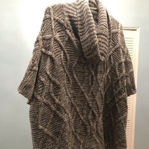 Throw over knitted sweater